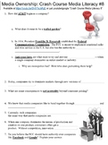 Crash Course Media Literacy #8 (Media Ownership) worksheet