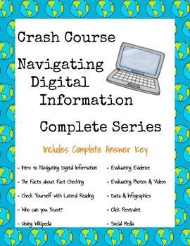 Crash Course Navigating Digital Information COMPLETE SERIES ~ Distance Learning