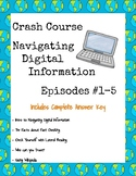 Crash Course Navigating Digital Information Episode Guides (#1-5)