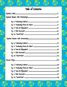 Crash Course Navigating Digital Information Episode Guides (#6-10)