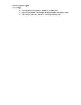 Crash Course Philosophy: How to Argue