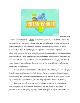 Crash Course Philosophy: Philosophical Reasoning