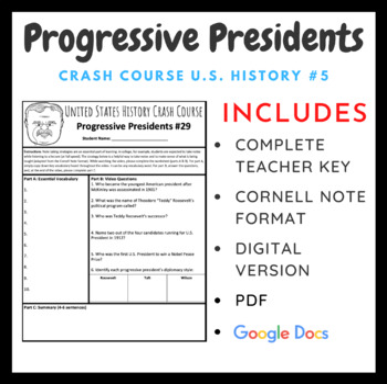 Crash Course U.S. History: Progressive Presidents #29