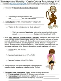 Crash Course Psychology #19 (Monkeys and Morality) worksheet