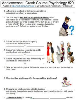 Crash Course Psychology #20 (Adolescence) worksheet