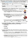 Crash Course Psychology #21 (Rorschach and Freudians) worksheet