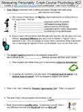 Crash Course Psychology #22 (Measuring Personality) worksheet
