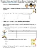 Crash Course Psychology #26 (Emotion, Stress, and Health) worksheet