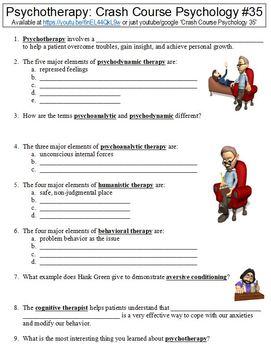 Crash Course Psychology #35 (Psychotherapy) Worksheet