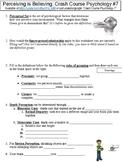Crash Course Psychology #7 (Perceiving is Believing) worksheet