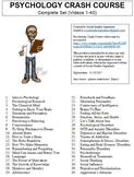 Crash Course Psychology Worksheets Complete Set (Full Coll