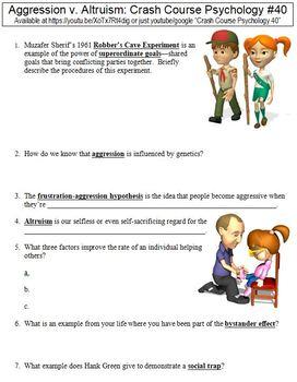 Crash Course Psychology Worksheets Complete Set (Full Bundle Collection)