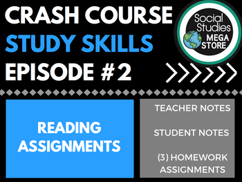 Crash Course Reading Assignments Ep. 2