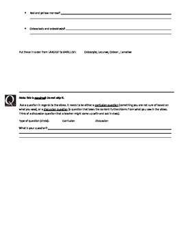Crash Course Skeletal System WSQ (watch-summarize-question) - NO key