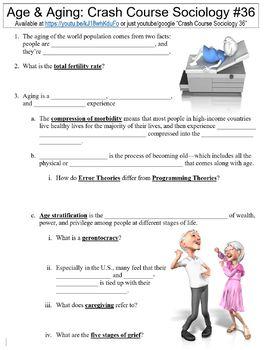 Crash Course Sociology #36 (Age & Aging) worksheet