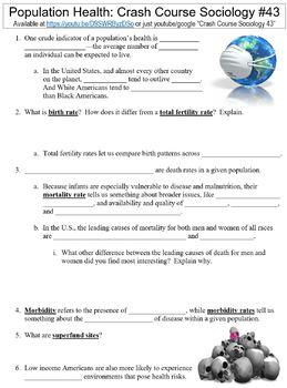 Crash Course Sociology #43 (Population Health) worksheet