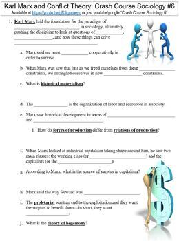 Crash Course Sociology #6 (Karl Marx and Conflict Theory) worksheet