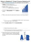 Crash Course Statistics #1 (What is Statistics?) worksheet