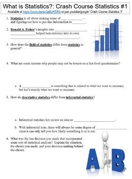 Crash Course Statistics #1 (What is Statistics?) worksheet