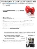 Crash Course Statistics #13 (Probability Part 1) worksheet