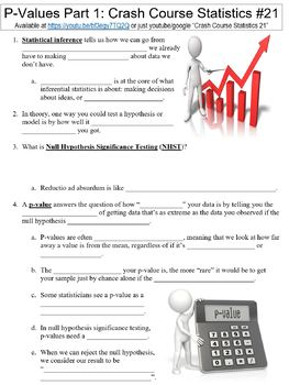 Crash Course Statistics #21 (P-Values Part 1) worksheet
