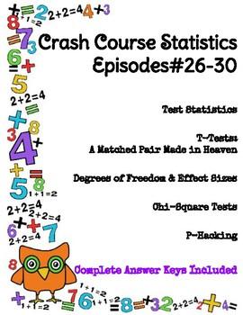 Crash Course Statistics #26-30 (Test Stats, T-Tests, Chi-Square Test, P-Hacking)