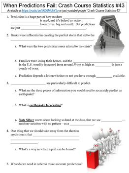 Crash Course Statistics #43 (When Predictions Fail) worksheet