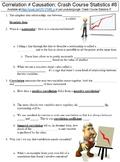 Crash Course Statistics #8 (Correlation ≠ Causation) worksheet