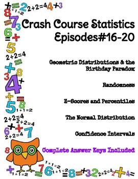 Crash Course Statistics Episodes 16-20 (Randomness, Normal Distributions)