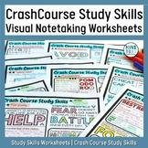 Crash Course Study Skills Visual Note-taking Worksheet Bundle