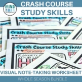 Crash Course Study Skills Doodle-Notes Style Worksheet Bundle