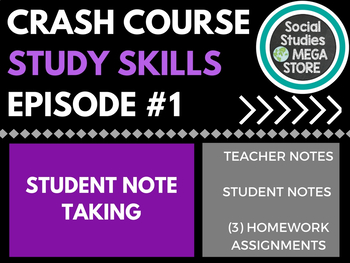 Crash Course Study Skills Note Taking Ep. 1