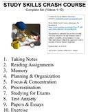 Crash Course Study Skills Worksheets Complete Series Set F