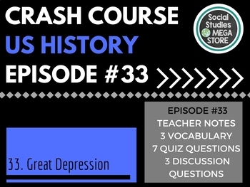 Crash Course The Great Depression Ep. 33