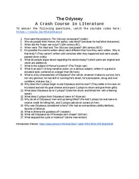 Crash Course: The Odyssey