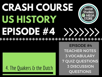 Crash Course The Quakers the Dutch and the Ladies Ep. 4