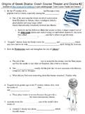 Crash Course Theater and Drama #2 (The Origins of Greek Drama) worksheet