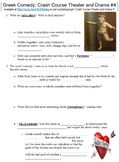 Crash Course Theater and Drama #4 (Greek Comedy) worksheet