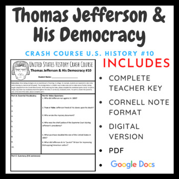 Crash Course U.S. History: Thomas Jefferson & His Democracy #10