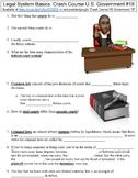Crash Course U.S. Government #18 (Legal System Basics) worksheet