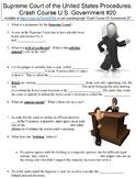 Crash Course U.S. Government #20 (U.S. Supreme Court Procedures) worksheet