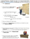 Crash Course U.S. Government #21 (Judicial Review) worksheet
