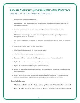 Course U.S. Government Worksheets -- 30 EPISODE BUNDLE -- Episodes ...