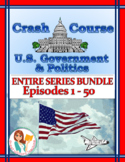 Crash Course U.S. Government Worksheets -- 50 EPISODE BUNDLE -- ENTIRE SERIES