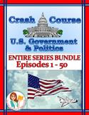 Crash Course U.S. Government Worksheets -- 50 EPISODE BUNDLE -- ENTIRE SERIES