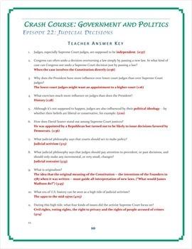 crash course u s government worksheets episodes 21 25 by elise parker. Black Bedroom Furniture Sets. Home Design Ideas