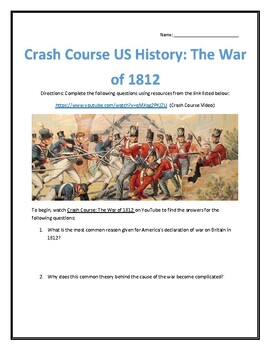 Crash Course U.S. History #11- The War of 1812 Video Analysis
