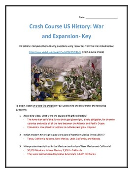 Crash Course U.S. History #17- War and Expansion Video Analysis