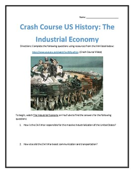Crash Course U.S. History #23- The Industrial Economy Video Analysis