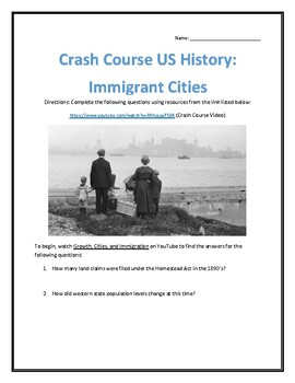 Crash Course U.S. History #25- Immigrant Cities Video Analysis